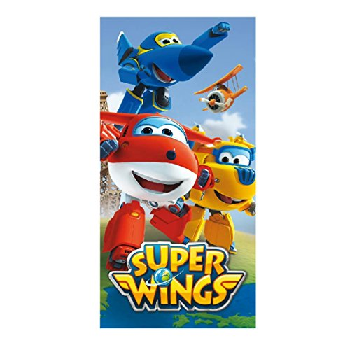 Artesanía Cerdá 2200002166 Toalla Playa algodón, diseño Super Wings