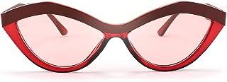 FEISEDY Women Funny Retro Big Eye Shape SunglCateye Eyewear Cute Lips Design Browline Combination B2763