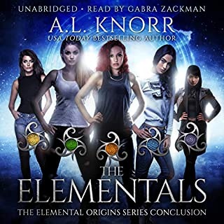 The Elementals     An Elemental Origins Novel              By:                                                                                                                                 A.L. Knorr                               Narrated by:                                                                                                                                 Gabra Zackman                      Length: 7 hrs and 23 mins     10 ratings     Overall 4.6