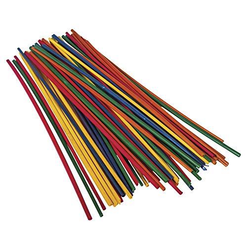 Rayher – Cannucce lunghe 22 cm, sacchetto da 50 cannucce, colori assortiti