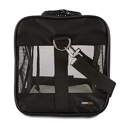 AmazonBasics Soft-Sided Pet Transport Carrier, Black