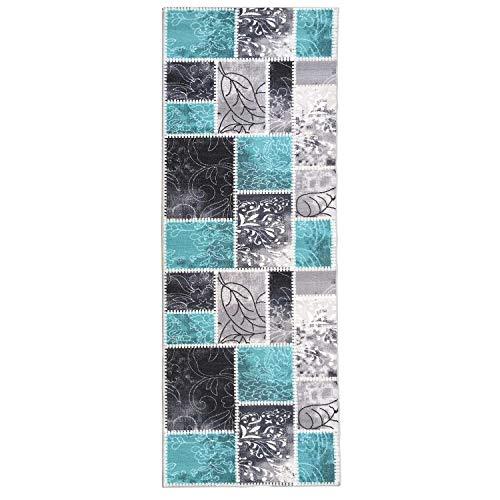 Special Carpets Nazar JEL112Jel Hali 112 Küchenteppich, Synthetik, Türkis, türkis, 180x67x0.2 cm