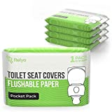 Toilet Seat Covers Paper Flushable (50 Pack) - XL Flushable Paper Toilet Seat Covers for A...