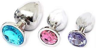 Forocean Kit de formateur en métal en acier inoxydable, 3 pièces, serti de diamants pour homme ou femme, partout où vous v...