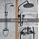 SDCVRE Ensemble de douche Ensemble de robinet de douche à montage mural, bronze...