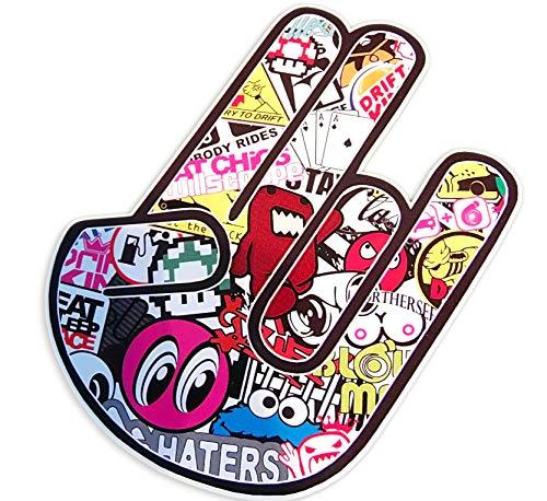 Shocker Hand Aufkleber - Kult Stickerbomb Tuning - Jdm Oem Motorsport Autotreffen Szene Fun Zeichen Finger Autosticker