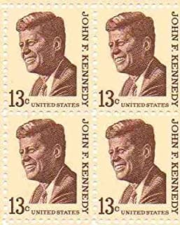 John F. Kennedy Set of 4 x 13 Cent US Postage Stamps NEW Scot 1287