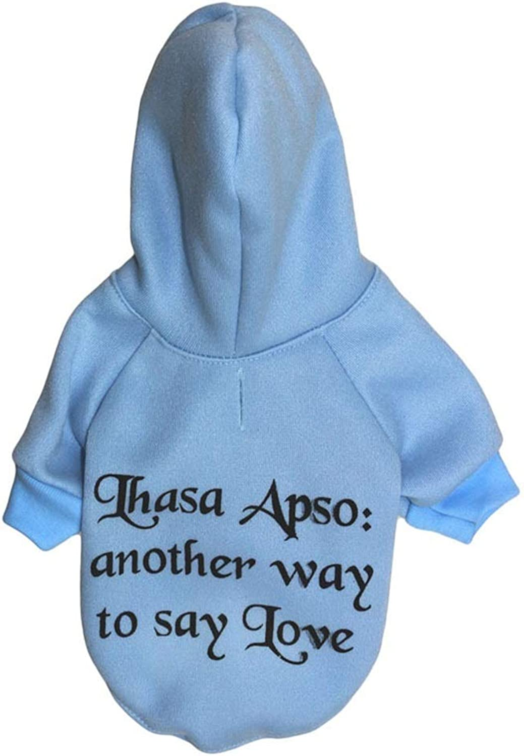Huayue Pet Clothes Fleece Cloth Hooded Sweater Pet Pity (color   As Shown, Size   M)
