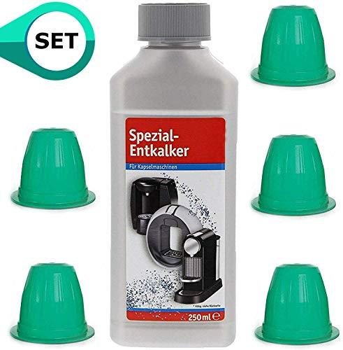 TronicXL Kalklöser Entkalker Set für 5 Stück Kapselmaschine Reinigungskapseln Flüssigreiniger kompatibel mit Nespresso Kapsel KitchenAid 5KES0503EMS/4 Artisan 5KES0503EER 5KES0503ECA/4