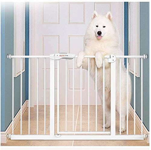 Jacquelyn Safety Gate Metal Adjustable Baby Pet Safety Gate Stair Gate Auto-Close with Pressure Mount Expandable Stands 76cm tall The width can be selected from 65 to 135cm Ideal for Kids and Pets