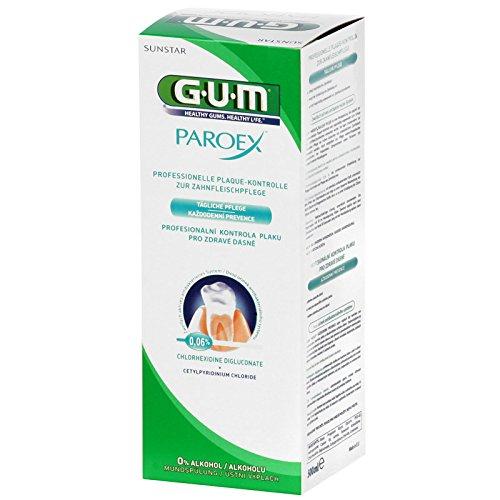GUM Paroex Mundspülung 0,06% CHX 500ml, 2er Pack (2x 500ml)