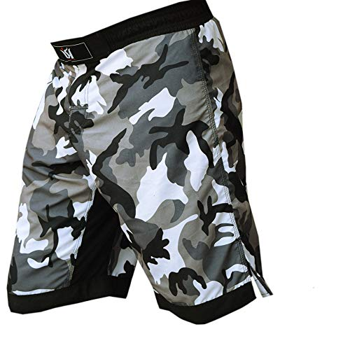 MMA Kick Boxing Fight Shorts Grappling Muay Thai UFC Cage Fighting Short Kick Boxing Martial Art Training Clothing Uniform (Large 36-38') Camouflage