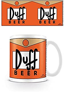 1art1 The Simpsons, Duff Beer Photo Coffee Mug (4x3 inches) and 1x Surprise Sticker