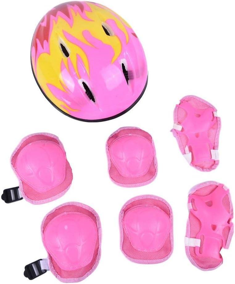 XIDAJIE Kids Helmet Protective Same day Max 41% OFF shipping Gear Bike Girl Set Boy Adjustable