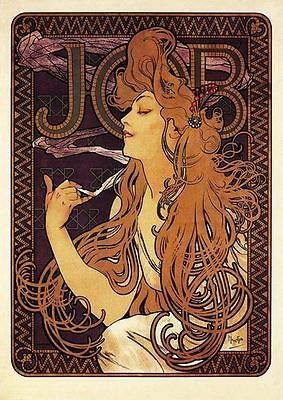 Affiche du Job de 1897 Alfons Mucha Faksimile Art nouveau poster A3 02