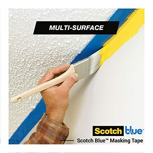 ScotchBlue Premium Malerkrepp Universal, 48 mm x 41 m - Vielseitiges Scotch Klebeband für Malerarbeiten und Dekoration, für Innen und Außen, Abklebeband / Kreppband