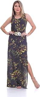 Vestido Clara Arruda Longo Cinto Estampado 50304