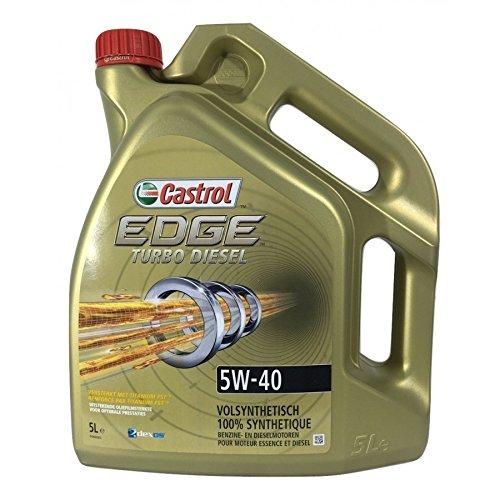 Castrol 154F59 Edge Turbo Diesel 5W40 Lubricante, 5L