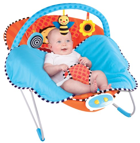 Sassy Cuddle Bug Bouncer BUMBLE BEE with Music and vibration