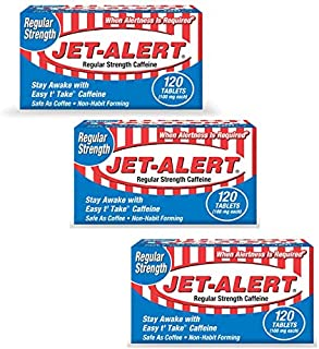 Jet-Alert 100 MG Each Caffeine Tab 120 Count - Pack of 3
