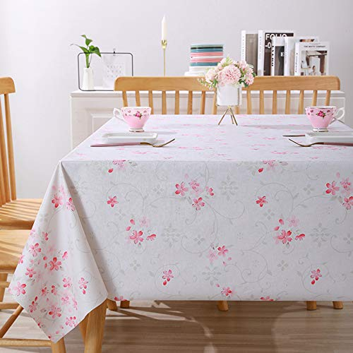 Waterproof Tablecloths,oil-proof PVC Table Cloth Anti-slip Soft Durable Table Cover Anti-scalding Wipe Clean Tablecloth