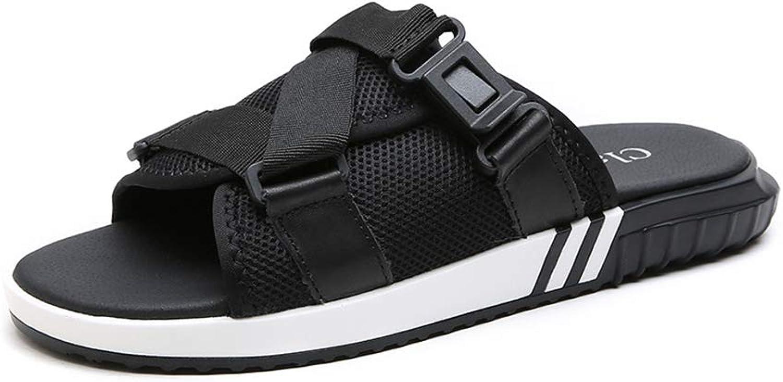 Men's Leisure Mesh Slippers Non-Slip Breathable Open Toe Beach shoes Cozy Convenient Cingulate Slingback Travel Sandals