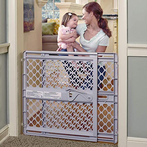 "Toddleroo by North States 42"" Wide Supergate Ergo Baby Gate: Great for doorways or stairways. Includes Wall Cups for Extra Holding Power. Pressure or Hardware Mount. 26"" - 42"" Wide (26"" Tall, Sand)"