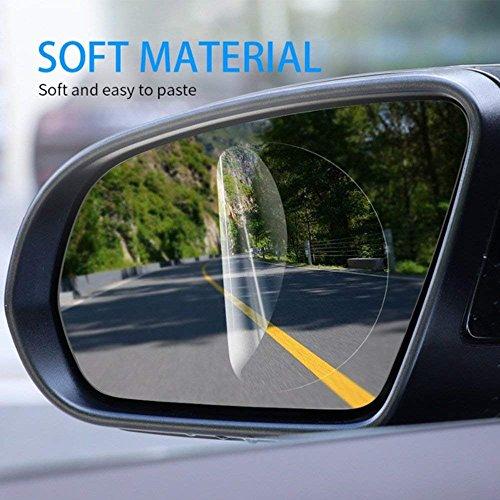 51oU4ZqjEwL - Freenavi Car Rearview Mirror Waterproof Film, Anti Fog Film Anti-Glare Anti Mist Anti-Scratch Waterproof Rainproof Rear View Mirror Window Clear Protective Film-2Pcs