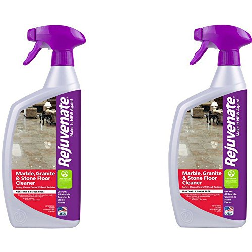Rejuvenate Marble Granite and Stone Floor Cleaner – Instantly Removes Dirt and Grime - Non-Toxic Streak Free Shine – 32 oz. (2 Pack)