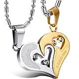 Pendentif Collier Homme Femme Pendentif Fantaisie Coeur Amour Puzzle I Love You...