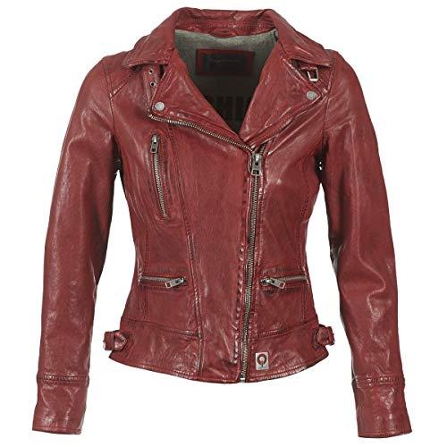 Oakwood Damen Jacke Echtleder 62065, Rot-Rouge (Feu), Large