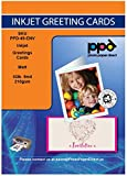 PPD Inkjet Large Matte Photo Quality Printable Greeting Cards LTR 8.5x11' folding to 5.5 x 8.5' 53lbs 210gsm 9mil With Envelopes x 50 Sheets (PPD049-50-Env)