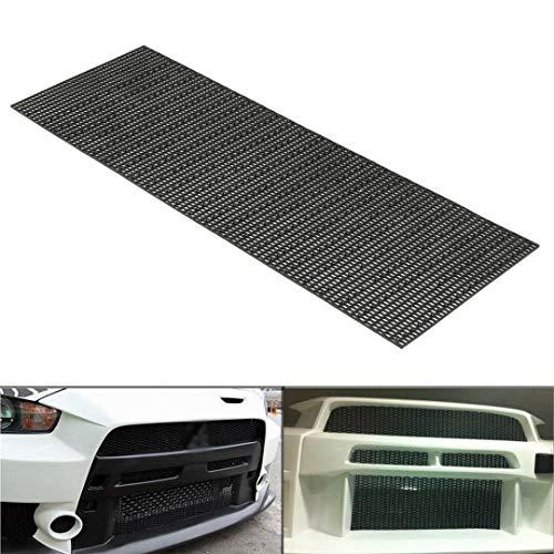 tonchean 47.2x15.7x0.16 Inches Universal Car Mesh Grill Honeycomb Hex Mesh Rhombic Type Black