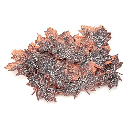 Zerodis realistisch esdoornvormig verwelkte bladvezel-decoratief blad voor kruipend huisje