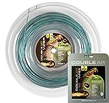 DOUBLE AR - Corda da Tennis Twice Viper, Monofilamento Co-Poliestere 1.20mm, Bicolor Grigio/Verde. Set Singolo 12Mt