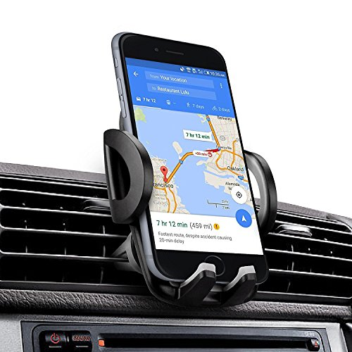 iAmotus Porta Cellulare Auto Universale Supporto Smartphone Bocchette Regolabile Rotazione di 360 Gradi per Telefoni iPhone Max/XS/XR/X/11 Plus Samsung Galaxy S20/Note10/W20/M30s Huawei Sony LG e GPS
