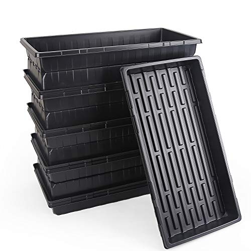 Consine Plant Growing Trays Without Drain Holes 10 Pack Extra Strength Planting Trays for Propagation Seed Plants Germination Seedling Wheatgrass Microgreens Hydroponic or Soil