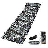 Mtouock Camping Sleeping Pad, Ultralight Inflatable Camping Mat with Pillow for Backpacking, Traveling and Hiking, Durable Waterproof Air Mattress, Compact Carrying Bag and Repair Kit, 3D Eye Mask
