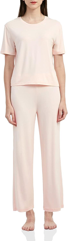 LazyCozy Women's Pajamas Popular It is very popular popular Set Short and Sleepwear Sleeve Pant Top