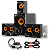 Acoustic Audio AA5170 Home 5.1 Bluetooth Speaker System with Optical Input and 2 Extension Cables