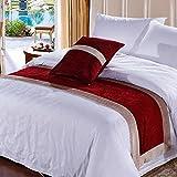 XAIOJIBA Bed Vino Cinco Estrellas Hotel/Cama/Bufanda De La Cama/Corredor De La Cama/Cama Cubierta Cama Pies Mat/Tira De Decorativa-l 50x240cm(20x94inch)