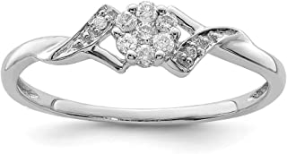 925 Sterling Silver Diamond Band Ring Fine Jewelry For Women Gift Set