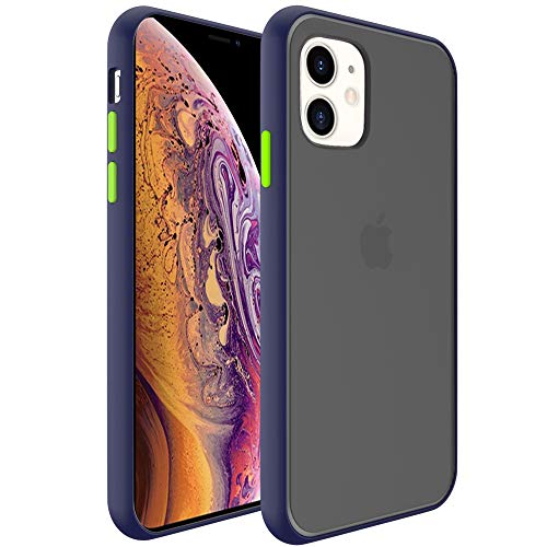InUnion Protective Case for iPhone 11 case with PC Back and Soft TPU Bumper Compatible with iPhone 11 6.1 Inch - Navy