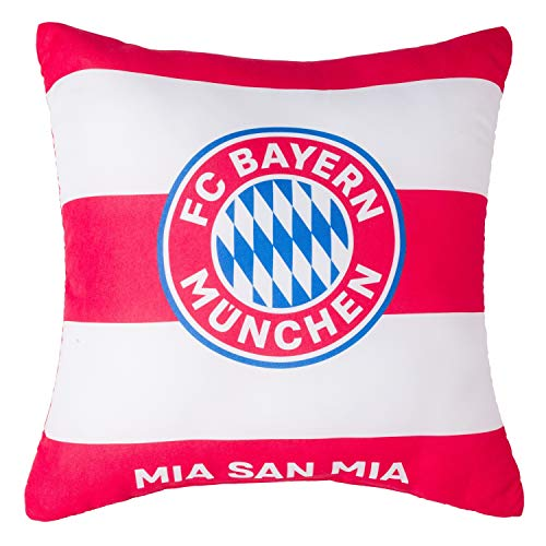 FC Bayern München Wendekissen - Mia San Mia - rot/weiß Kuschelkissen, Kissen, Dekokissen FCB