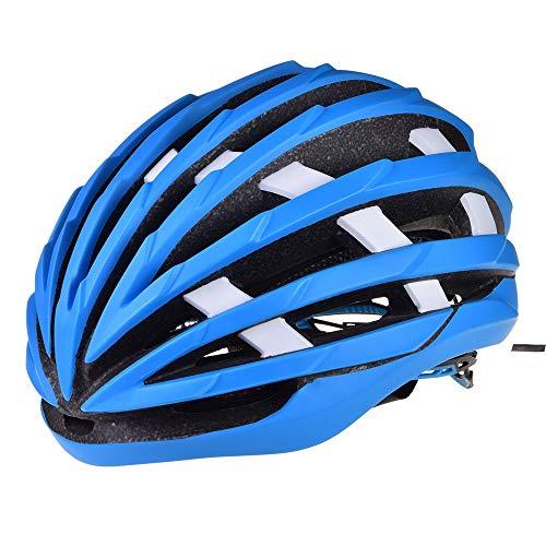 HKRSTSXJ Erizo de fregado de un Casco de Ciclista Pieza de Casco de equitación de los Hombres y Mujeres de Deportes Transpirable Casco de la Bicicleta Casco de Seguridad (Color : Azul)