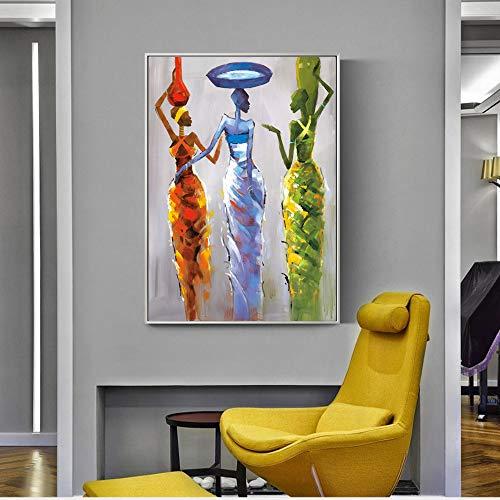 Sanzangtang Afrikaanse vrouwen abstract Wall Art Canvas, modern, kleurrijk, Pop Art Print, Canvas, muurschildering, woonkamer