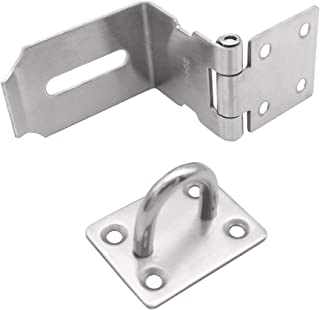 New 10 x DOOR HASP AND STAPLE SET WIRE TYPE BLACK JAPANNED 75MM 3 INCH