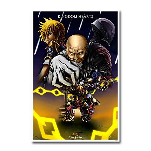 Rompecabezas de Madera 500pcs_Children Póster Anime de Kingdom Hearts Rompecabezas de Madera Personalizados, imágenes Completas, Juguetes de Bricolaje para decoración de Adultos 52x38cm