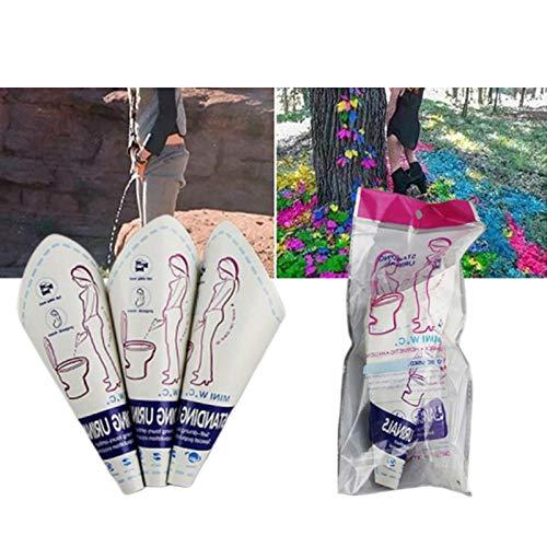 Seasaleshop 10pcs Urinario Femenino Portátil, Urinario de Papel desechable WC para Mujer, Ideal para Viajes, Coches, Campo, Embarazadas, Pacientes