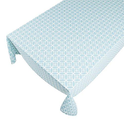 haga-wohnideen.de 'Tovaglia tavolo biancheria lavagna coperta tovaglia Crossed Circles 140cmx250cm turchese